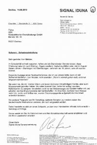 Empfehlungsschreiben für GBK Gebäudereinigung